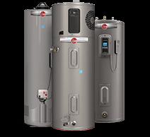 Group of Rheem water heaters